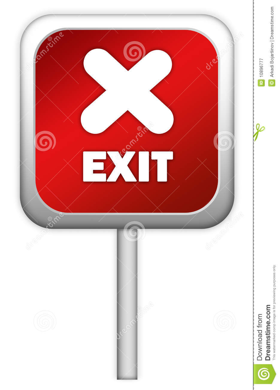Royalty Free Stock Photography  Red exit signRed Exit Sign