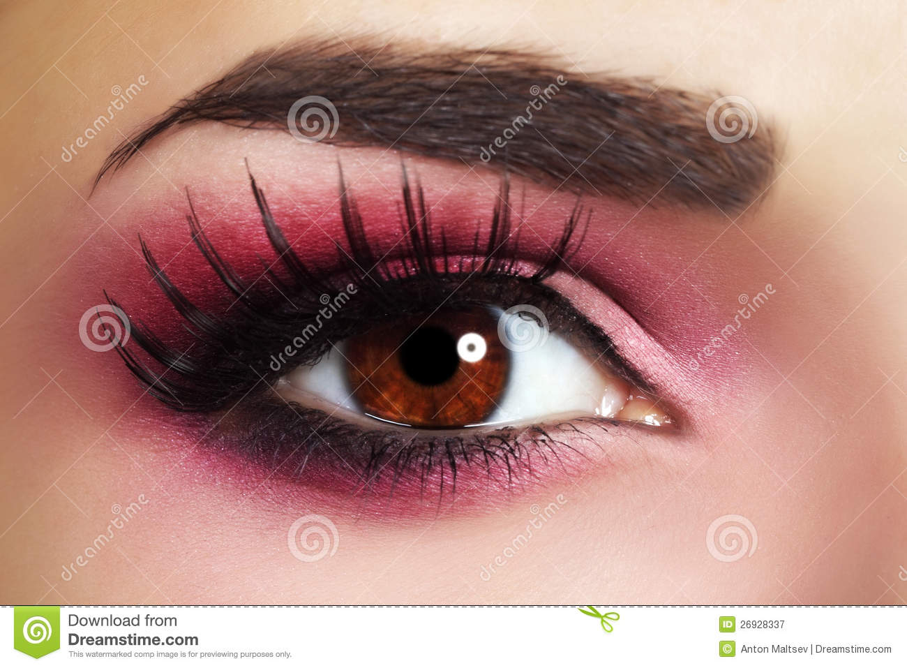 Red Eye Makeup Royalty Free Stock Photography Image 26928337