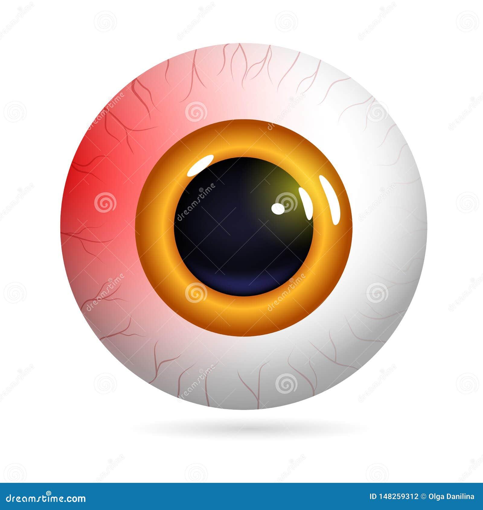 Red eyeball burst capillaries