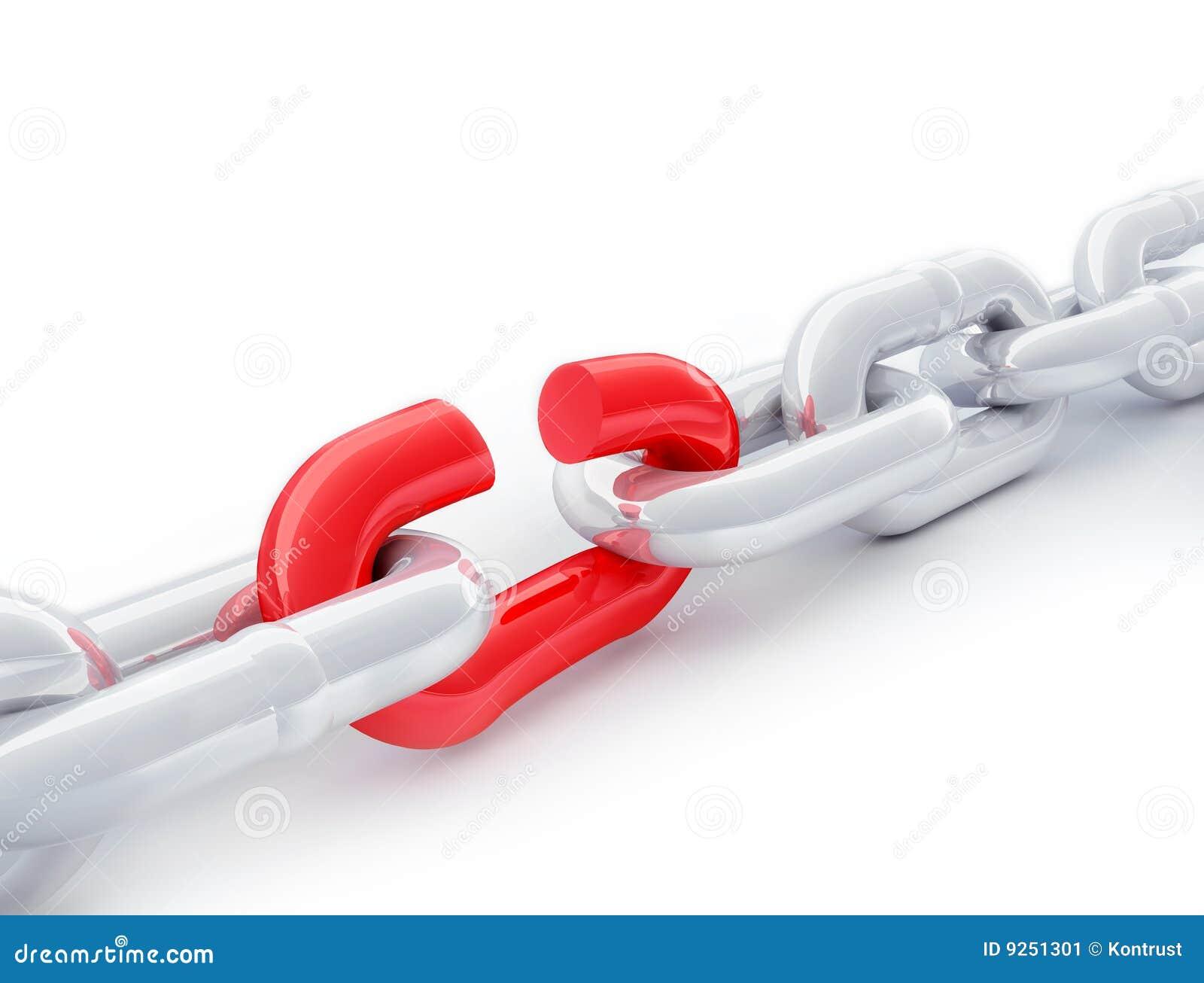 Red för chain sammanlänkning