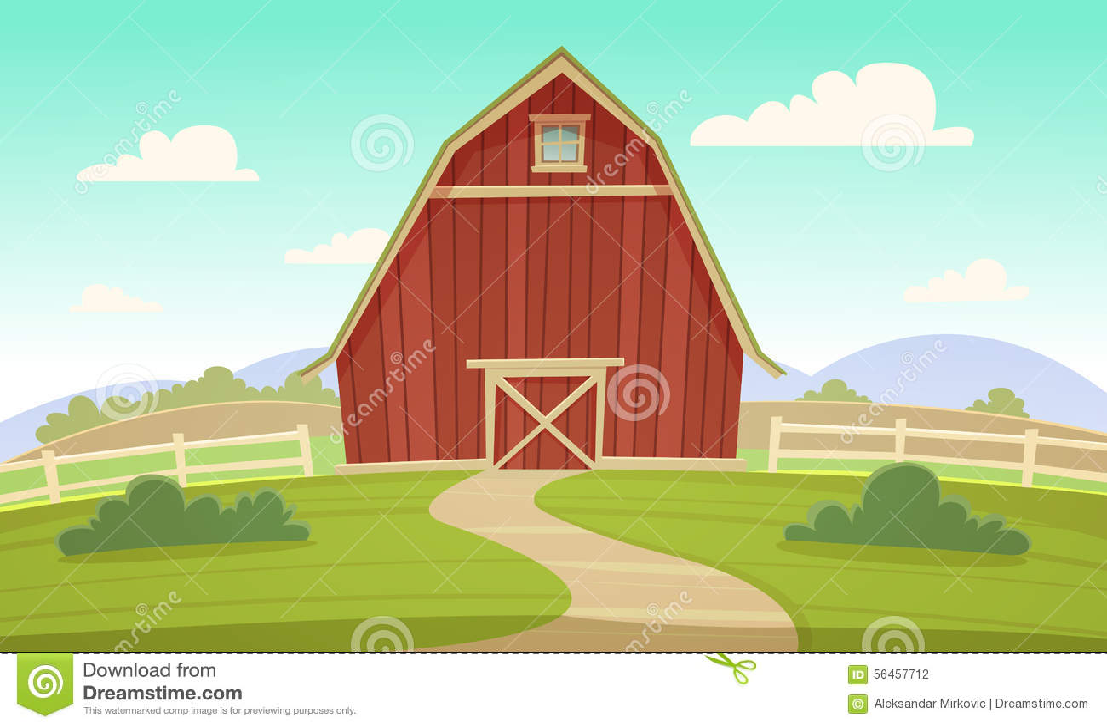 red farm barn stock vector illustration of land produce 56457712