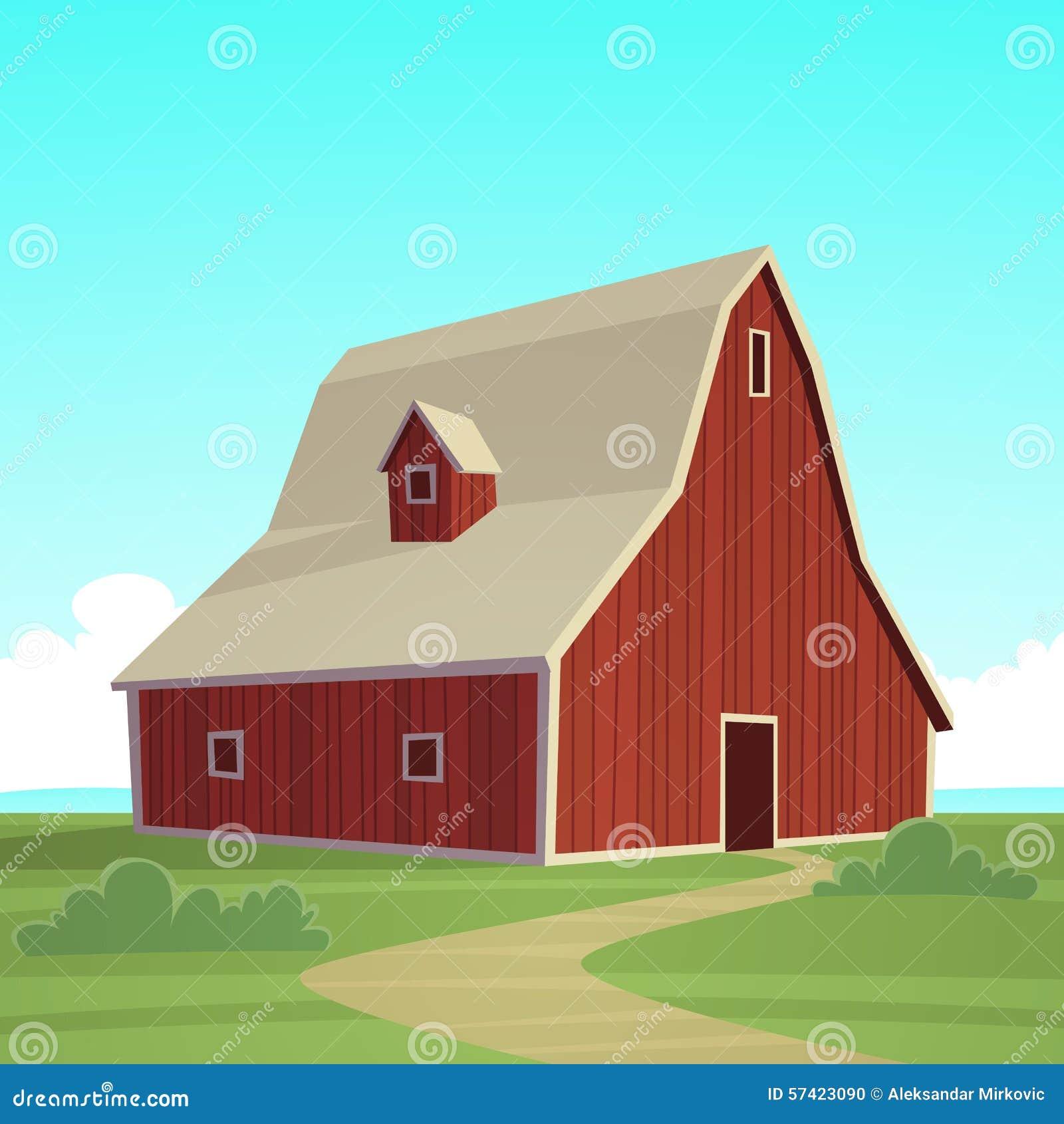 Farm Barn farm landscape with red barn stock photos - image: 31414573