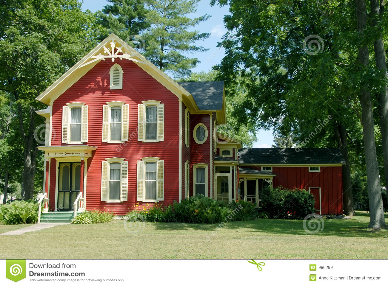 Red Farm House Royalty Free Stock Images Image 980299