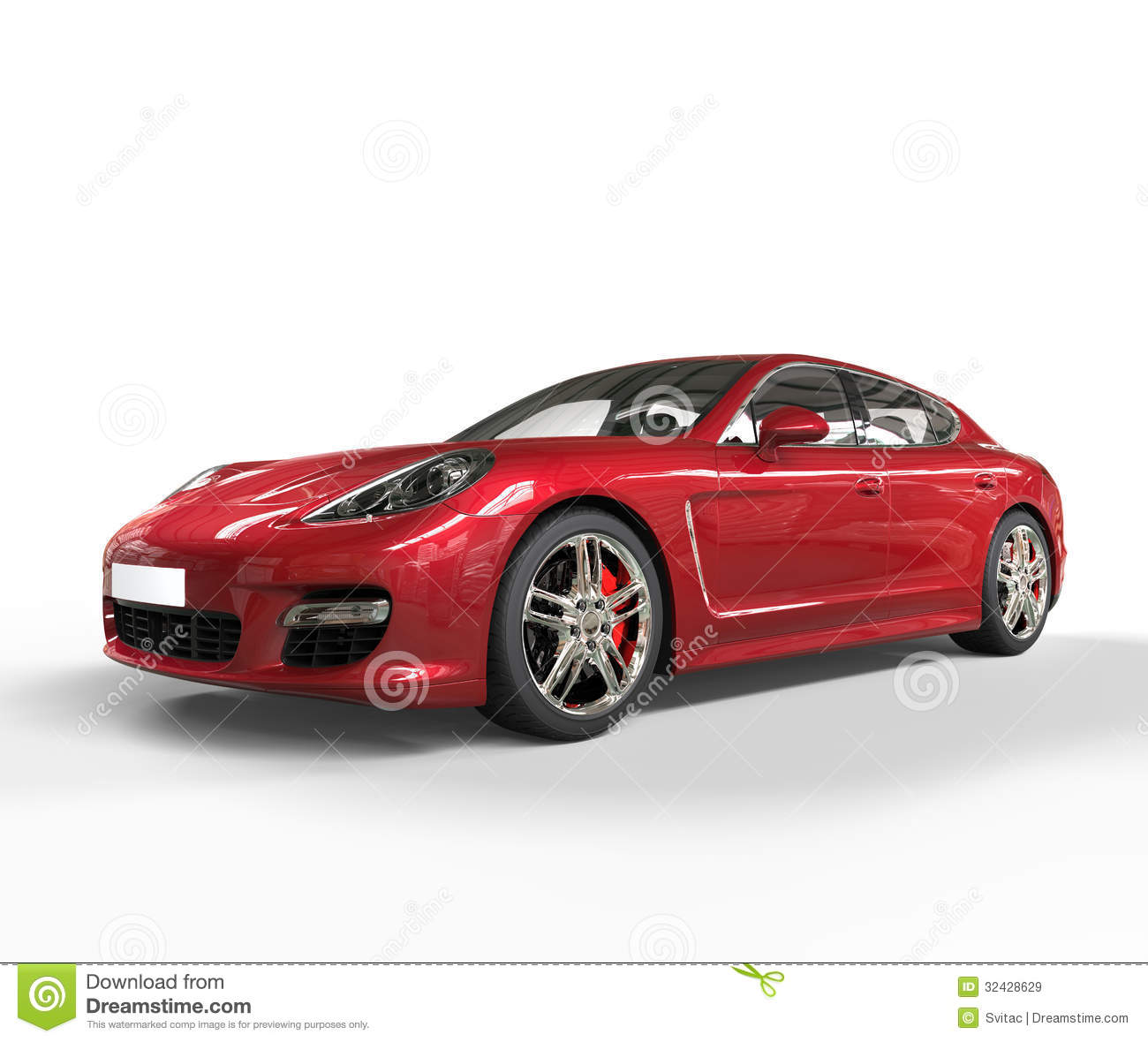 Red Fast Car Beauty Shot Stock Illustration. Image Of