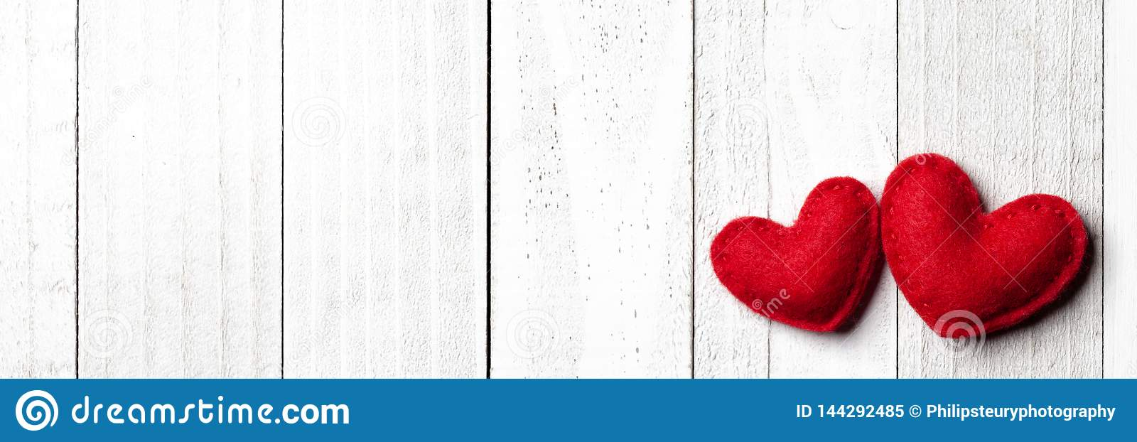 Red Felt Valentine Heart