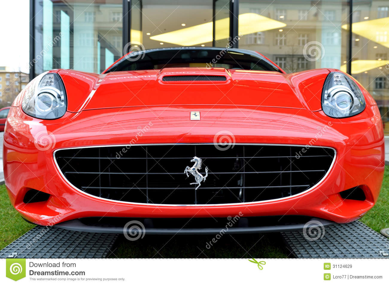 Red Ferrari California Car Front View Editorial Stock Image Image
