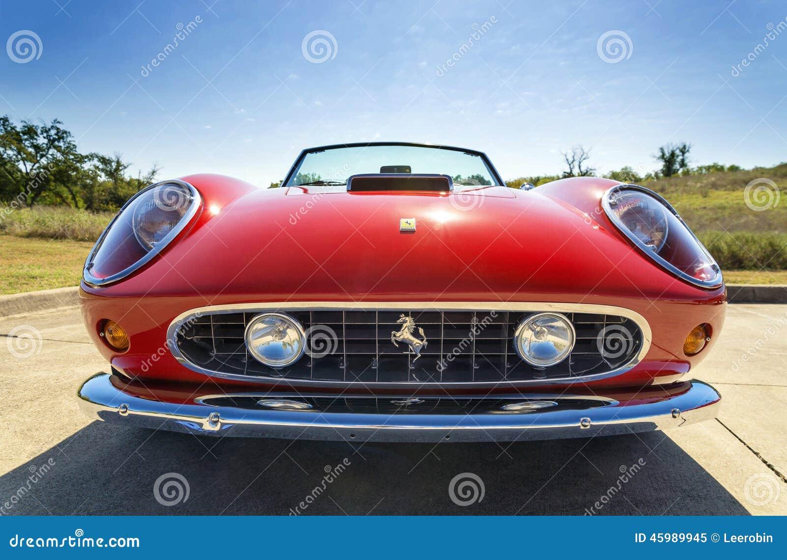 Red 1962 Ferrari 250 GT California Spyder Editorial Image
