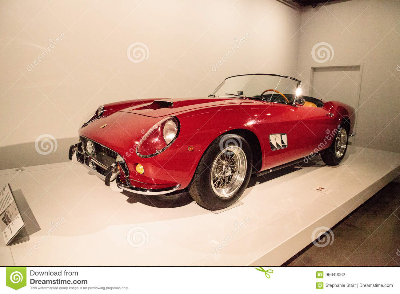 Red 1961 Ferrari 250 Gt California Spyder Swb Editorial Photography