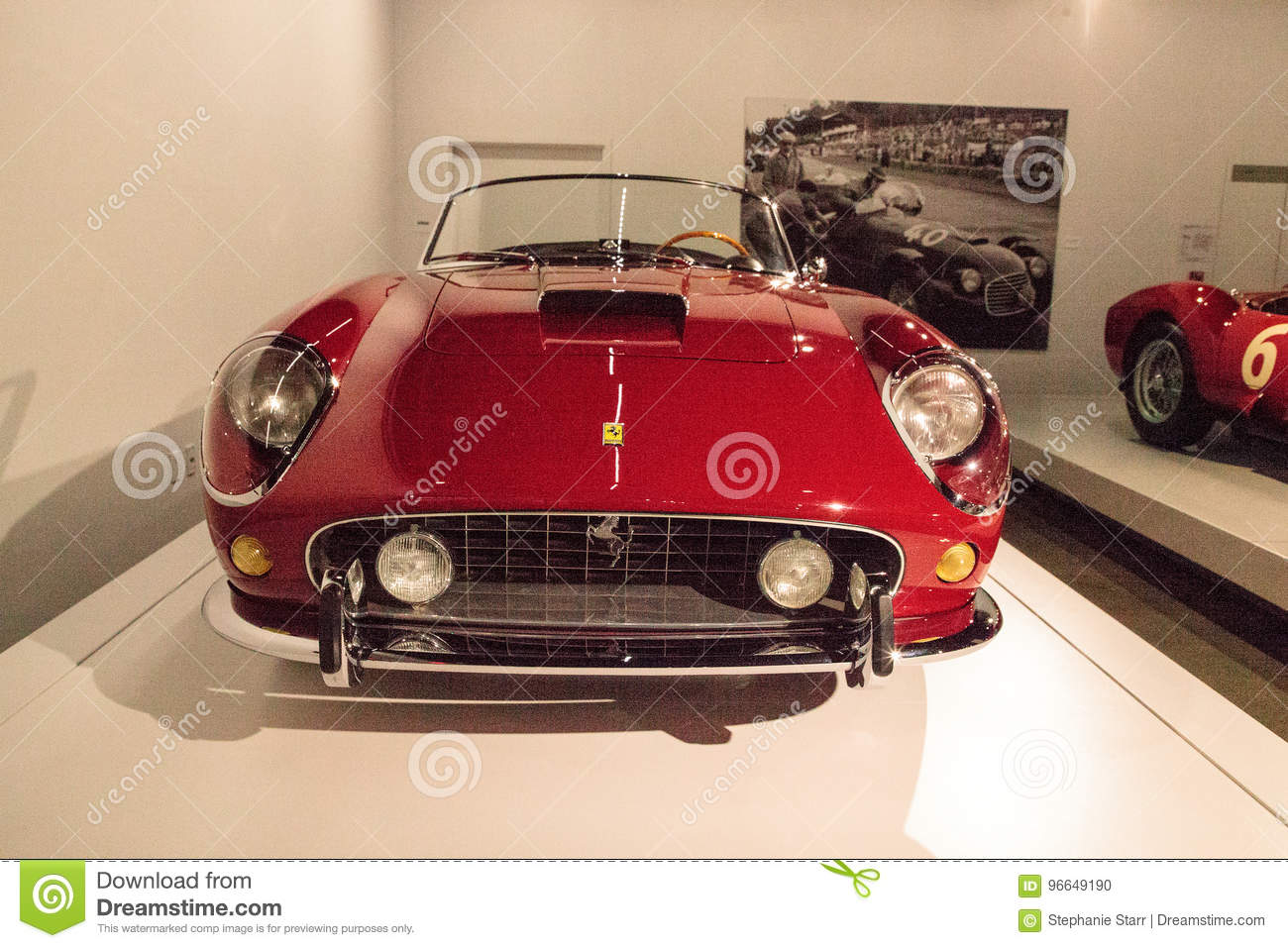 Red 1961 Ferrari 250 Gt California Spyder Swb Editorial Image