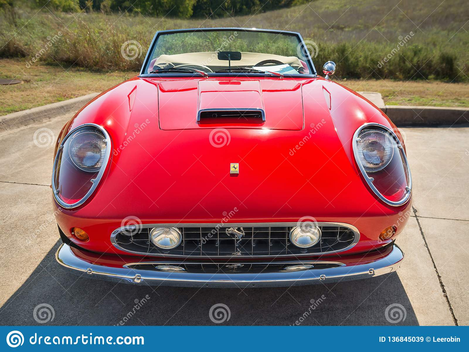 Red 1962 Ferrari 250 Gt California Spyder Editorial Stock Image