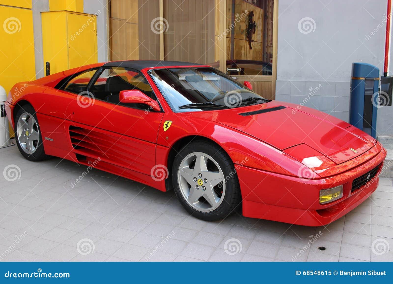 Red Ferrari 348 Ts For Sale In Monaco Editorial Image
