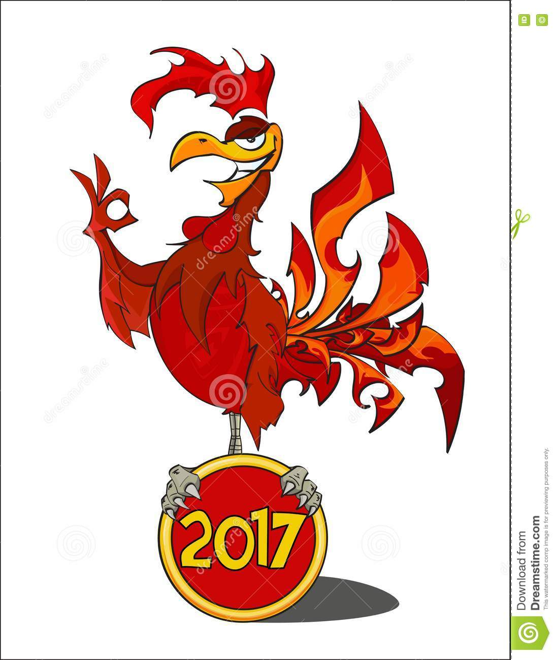 Red fiery rooster the symbol of the chinese new year 2017 red fiery rooster the symbol of the chinese new year 2017 biocorpaavc