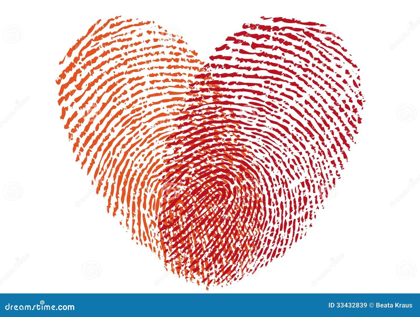 Red Fingerprint Heart, Vector Stock Vector - Illustration of graphic ...