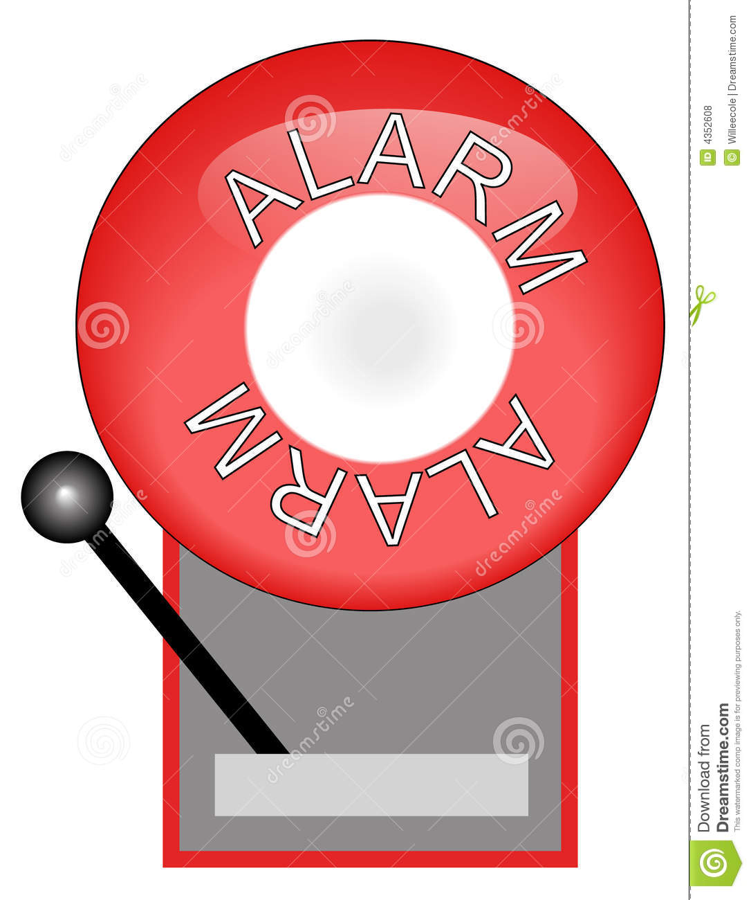 Red Fire Alarm Royalty Free Stock Photos Image 4352608