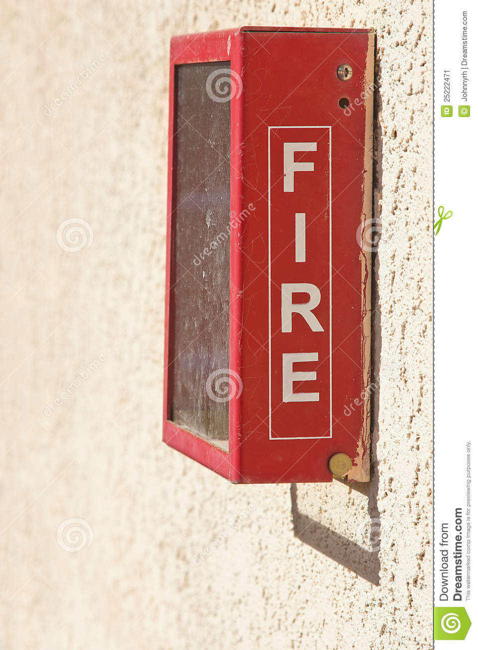 Red Fire Alarm Box Stock Image Image 25222471