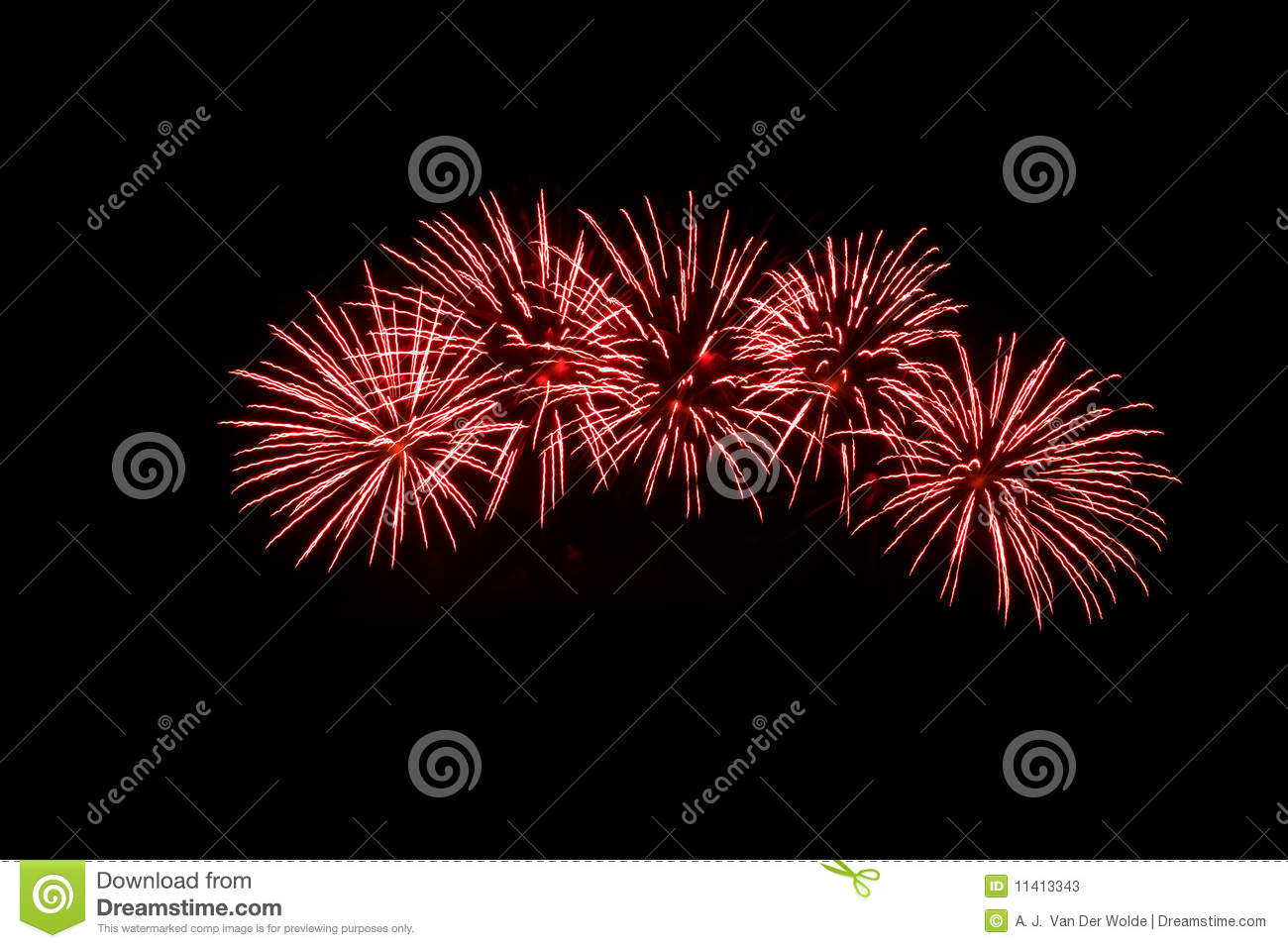 Red Fireworks Free Stock Photo: Red Fireworks Stock Photos