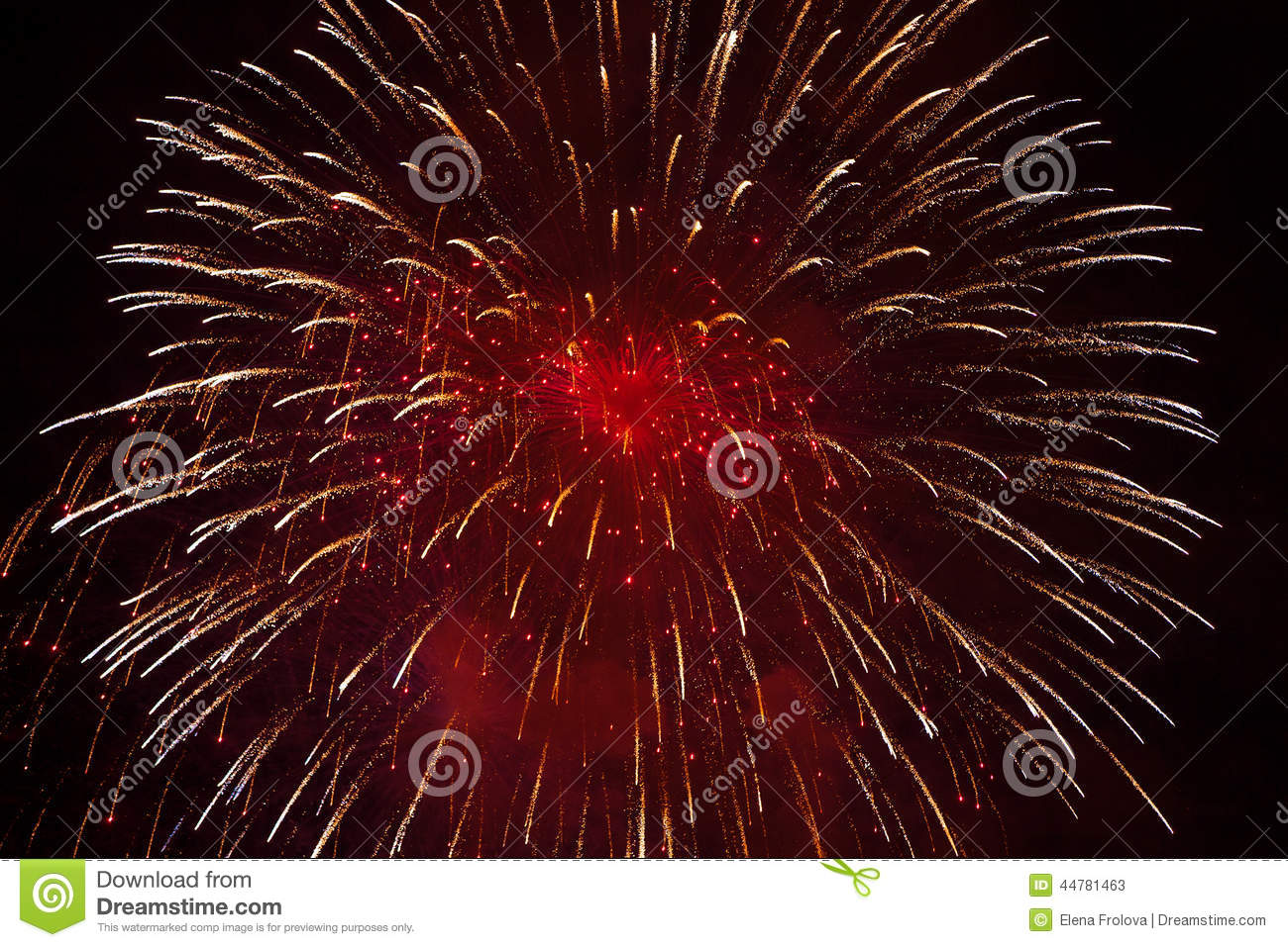 Red Fireworks Free Stock Photo: Red Fireworks Stock Image. Image Of July, Night, Christmas