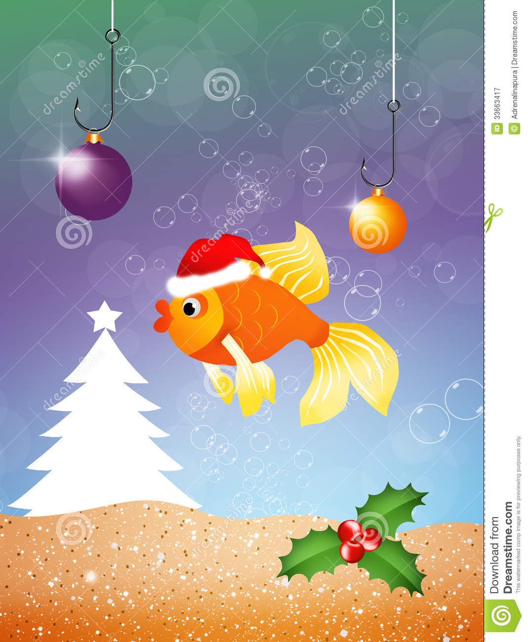 Red fish royalty free stock photography image 33663417 for Christmas fish starters
