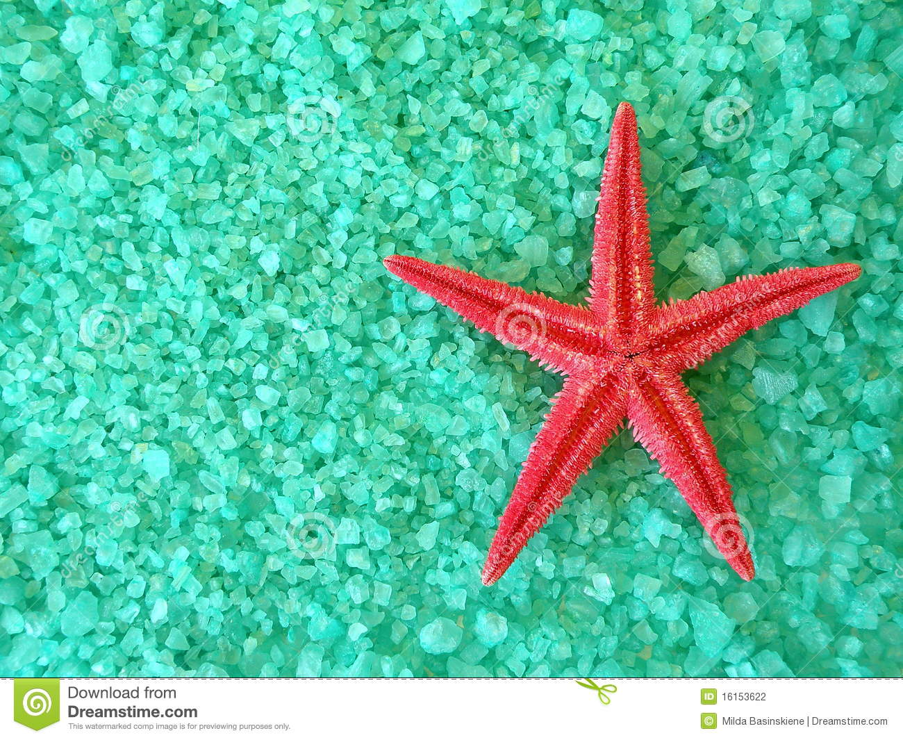 Red fish star and salt stock photography image 16153622 for Salt bath for fish