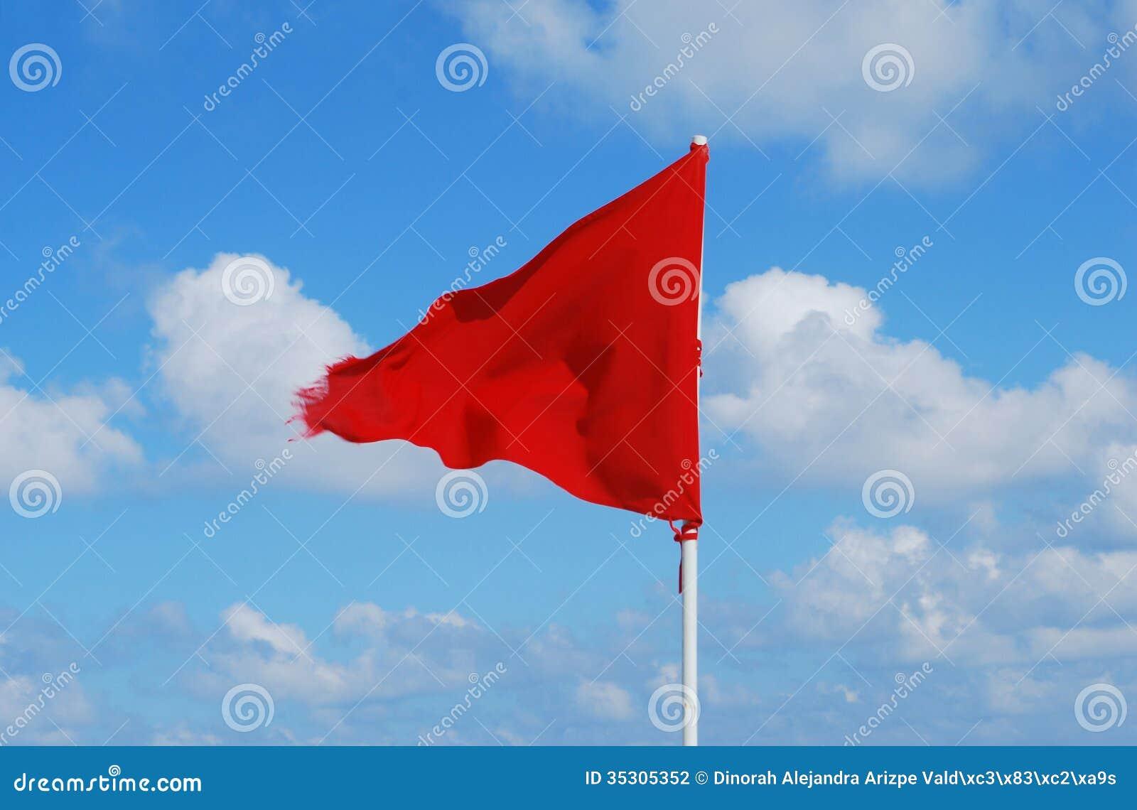 Red flag beach