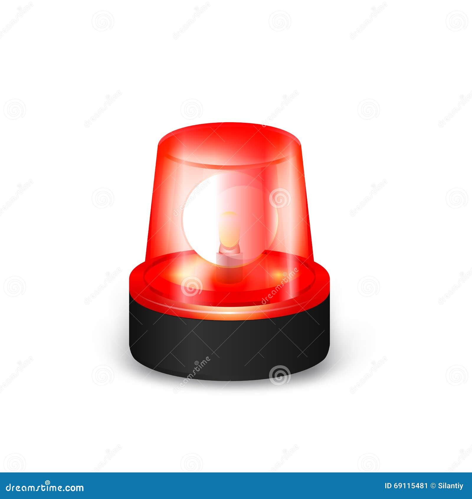 Red Flashing Siren Stock Vector Illustration Of Light