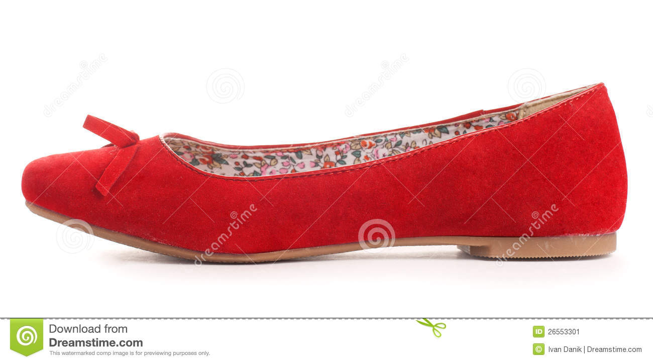 Red Flat Shoes Red flat shoes stock image