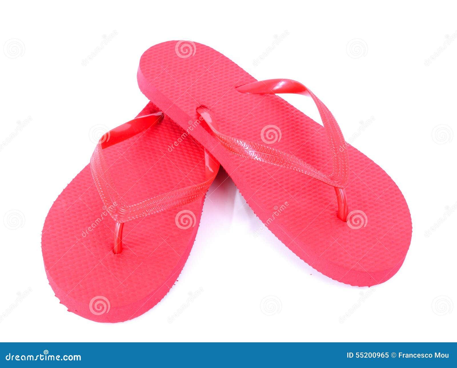 71ffda7571dd Flip flops red photographed in studio on white background