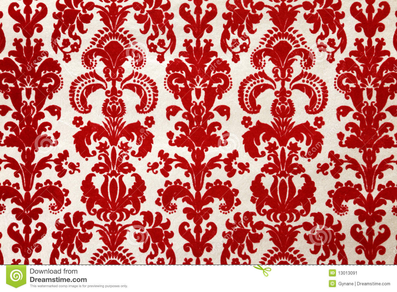 red flock wallpaper pattern stock image image 13013091