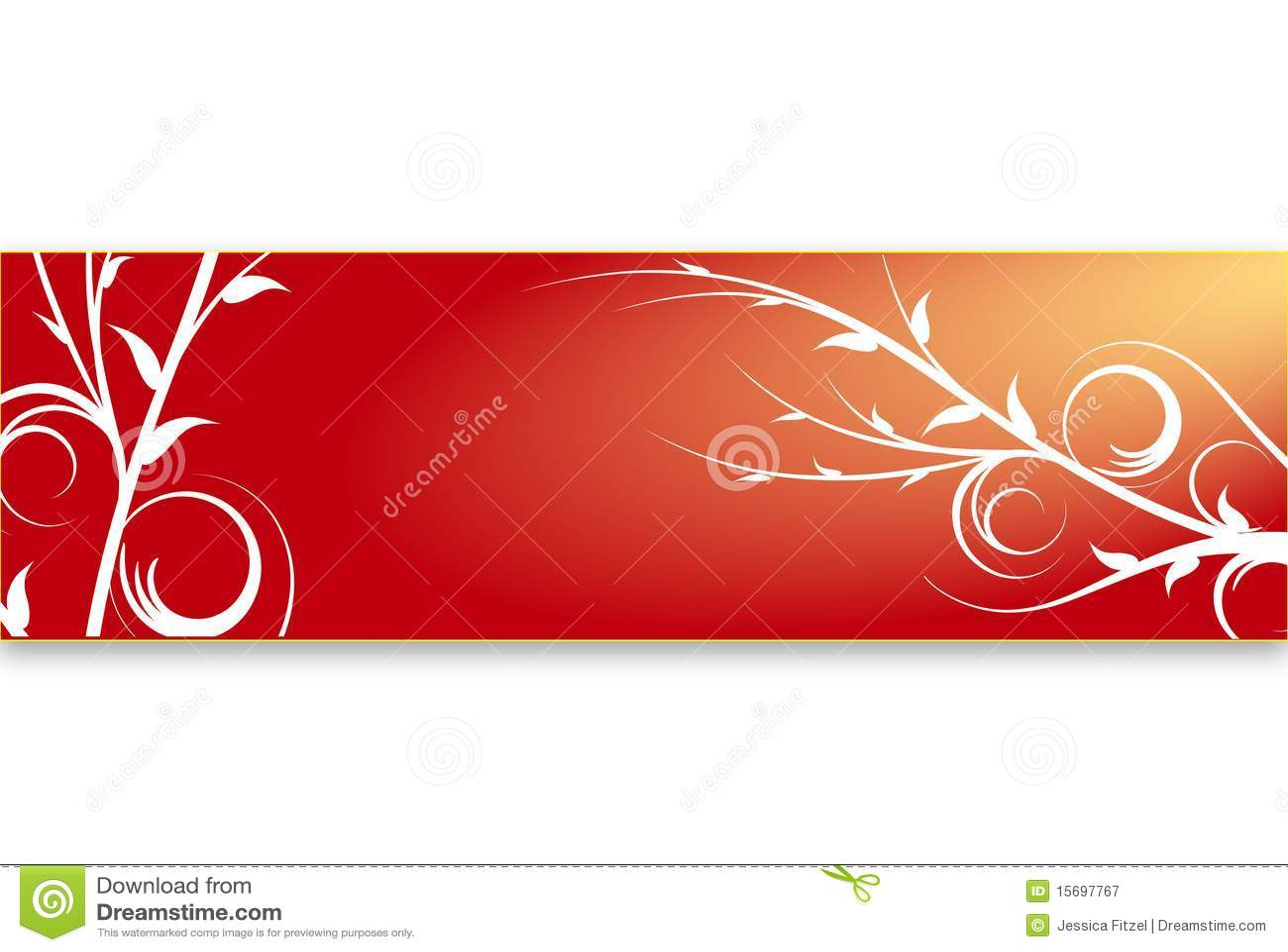 Red floral banner