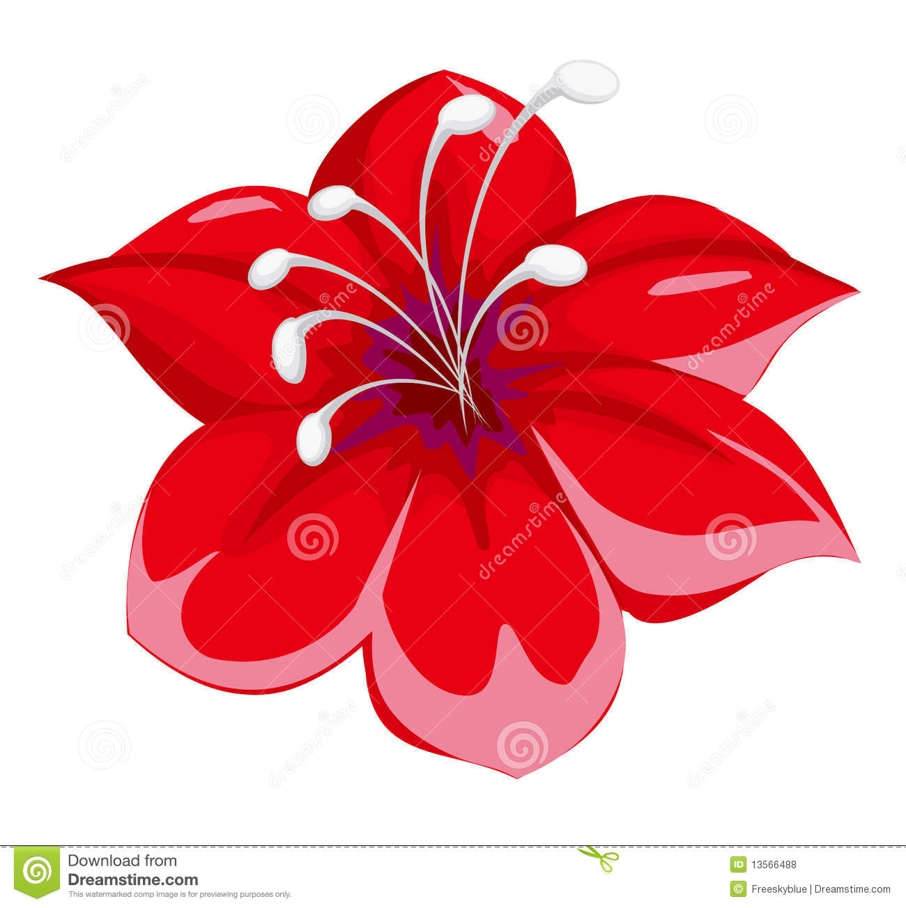 Red Flower Royalty Free Stock Photos Image 13566488