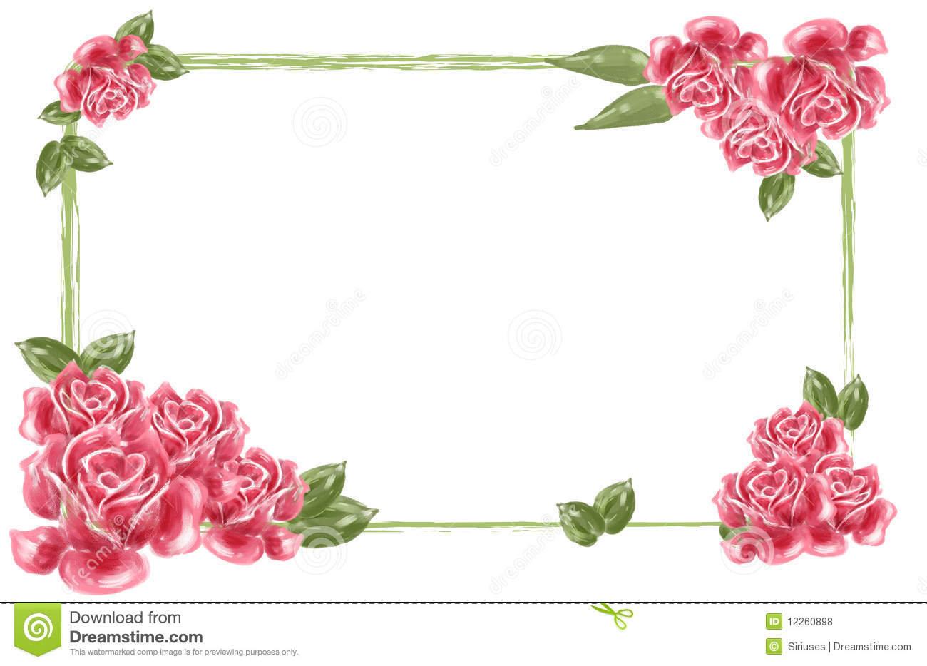 Red Flower Border Royalty Free Stock Photos - Image: 12260898
