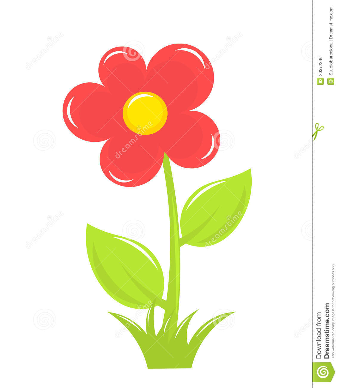 Red Flower Royalty Free Stock Image - Image: 30372346