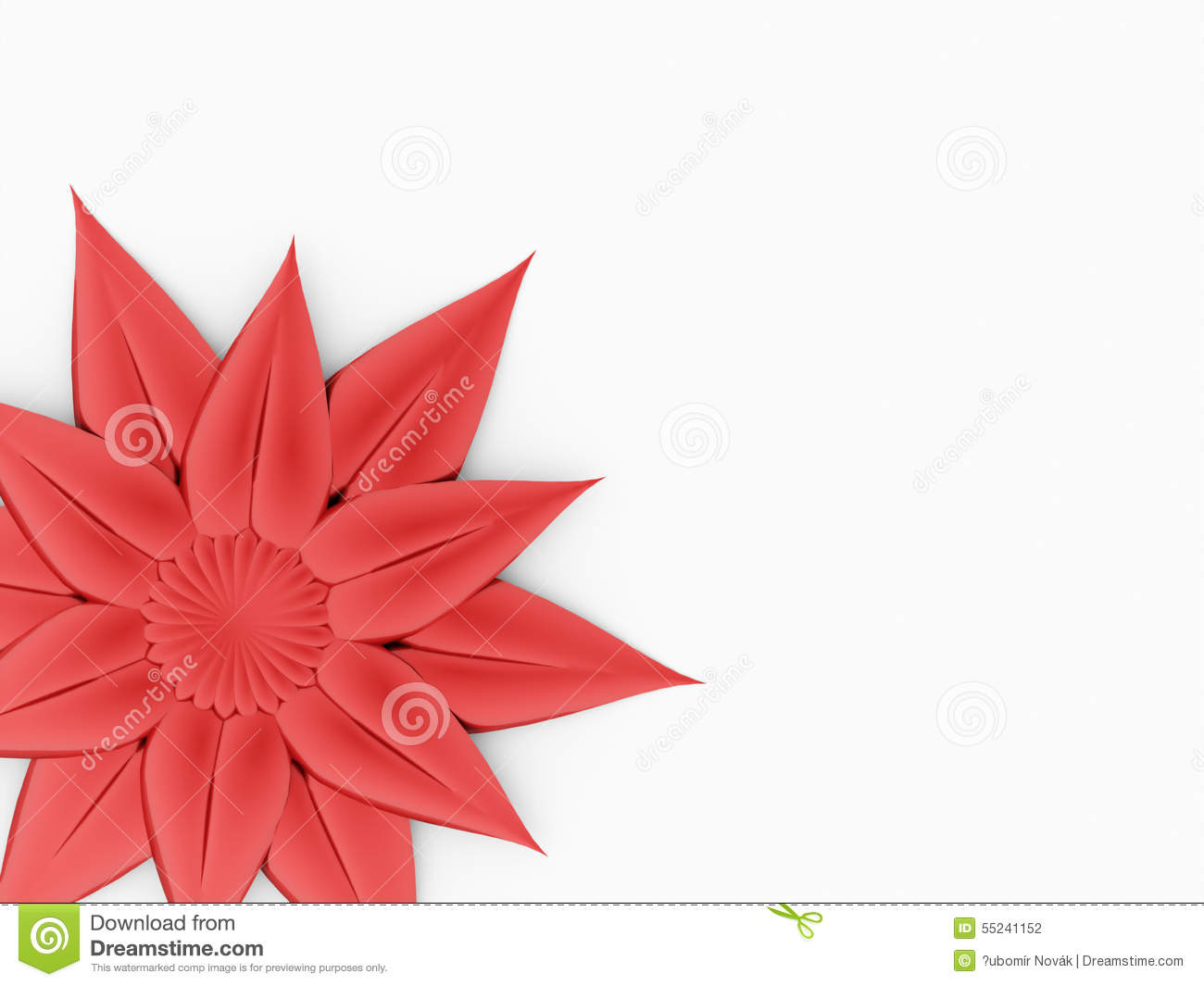 red flower on white-#19