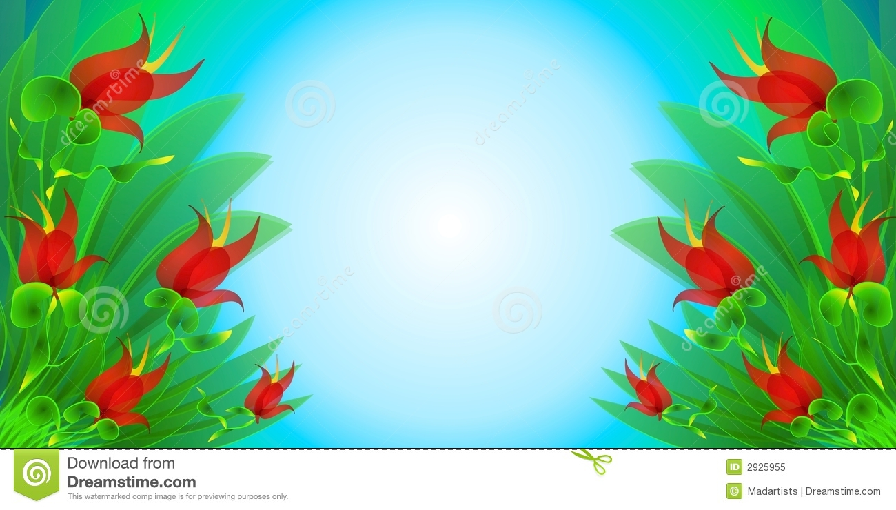 Red Flowers Garden Background Stock Illustration ...