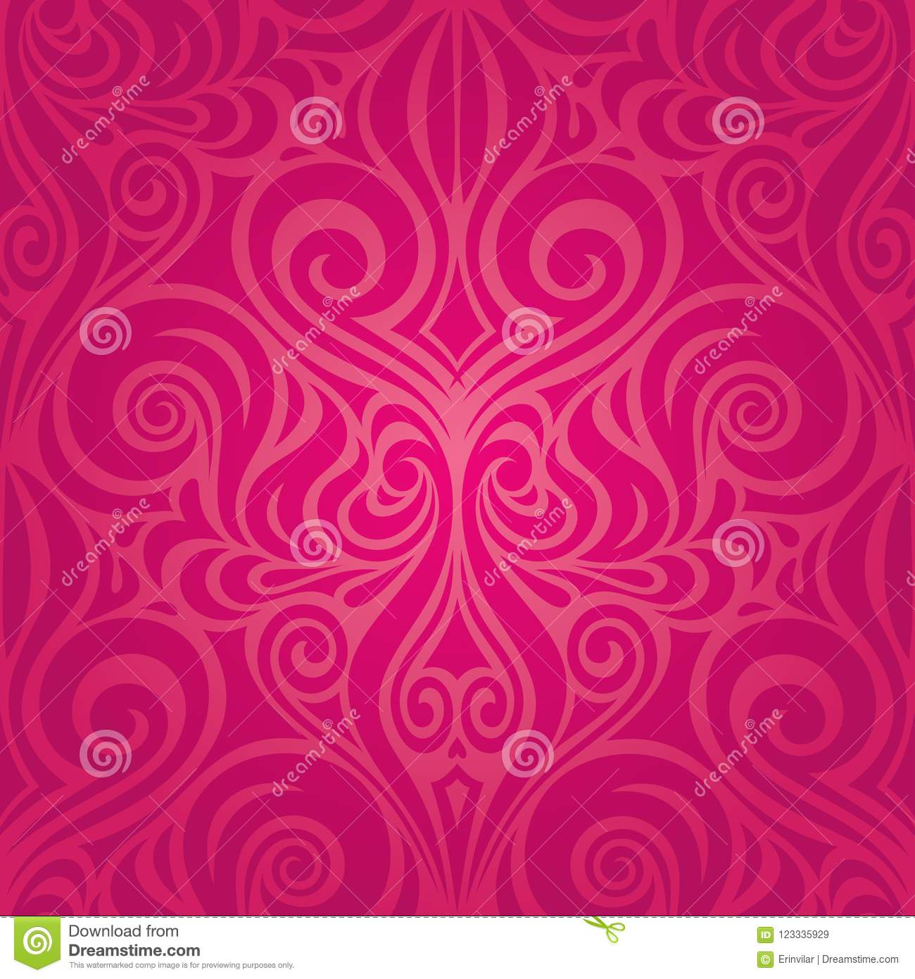 Red Flowers Gorgeous Decorative Floral Fashion Background