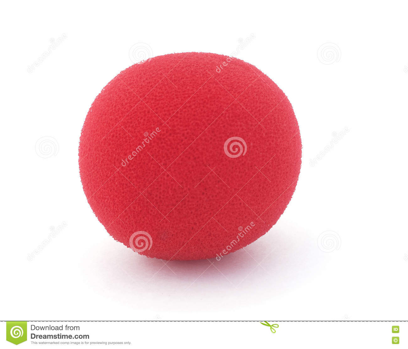 Red Foam Clown Nose stock image  Image of child, element - 76484027