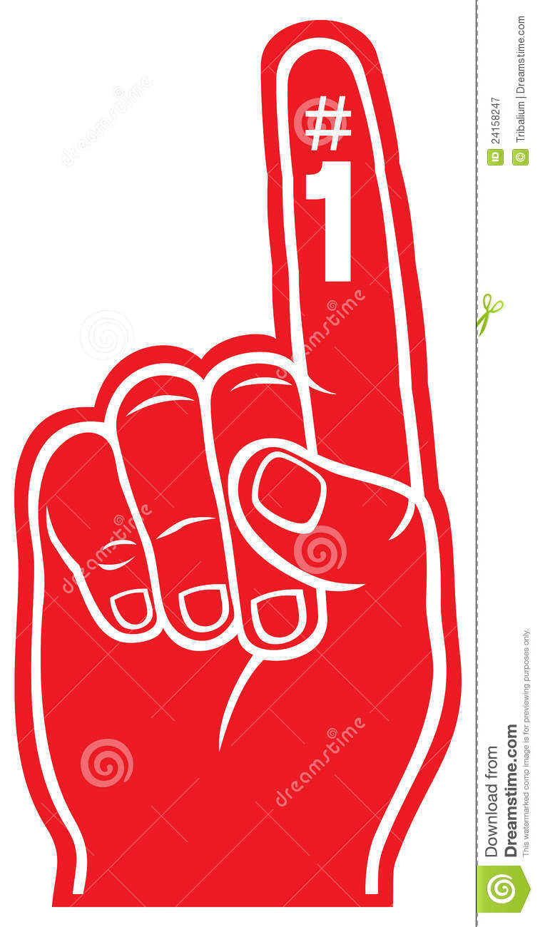 foam finger clipart. royalty-free stock photo. download red foam finger clipart f