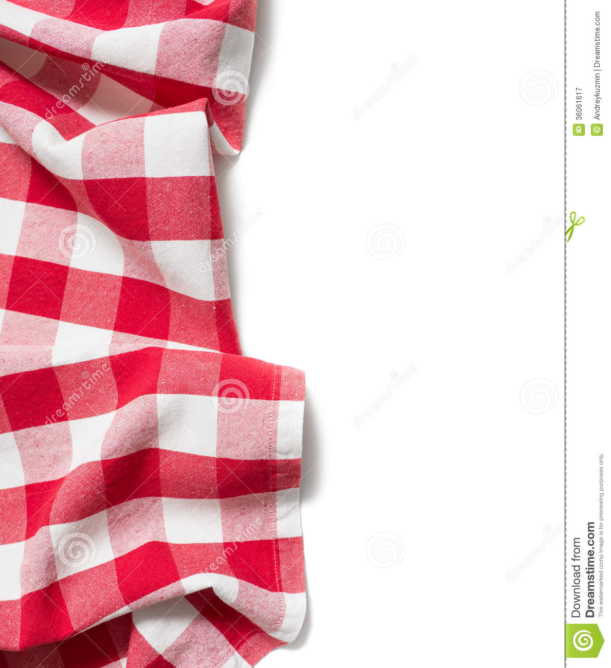 Red Folded Tablecloth Isolated Royalty Free Stock Photography - Image ...