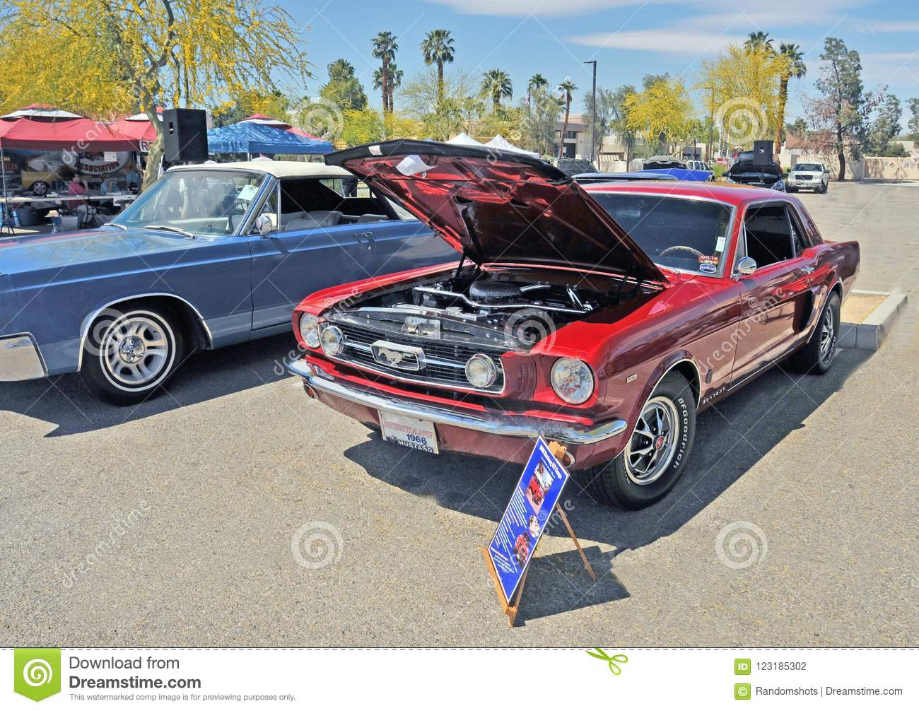 Red 1966 ford mustang gt editorial photography image of muscle