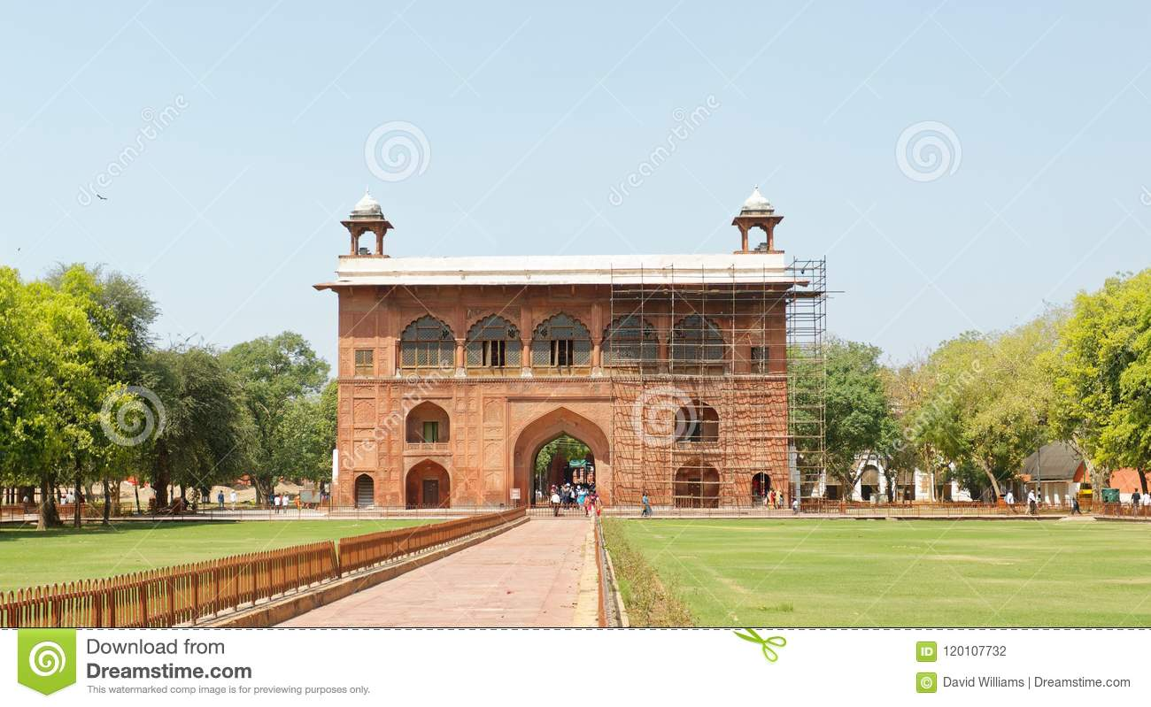 Red Fort Drum House Delhi India Stock Photo - Image of