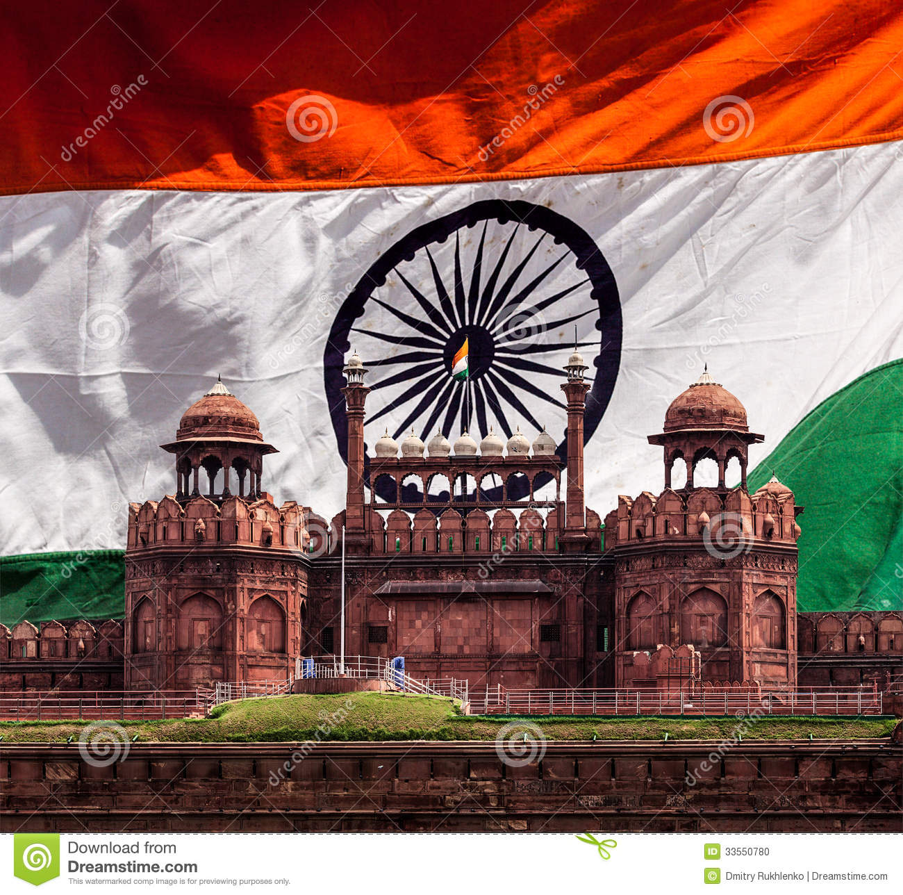 Red Fort Lal Qila Indian Flag Delhi India Stock Images Download 97