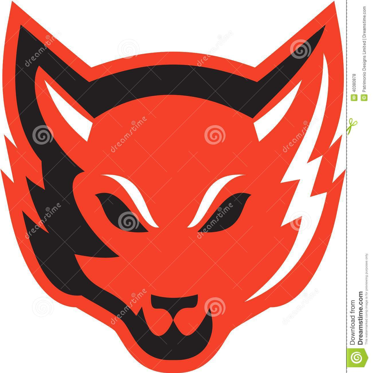 Red Fox Face Clip Art