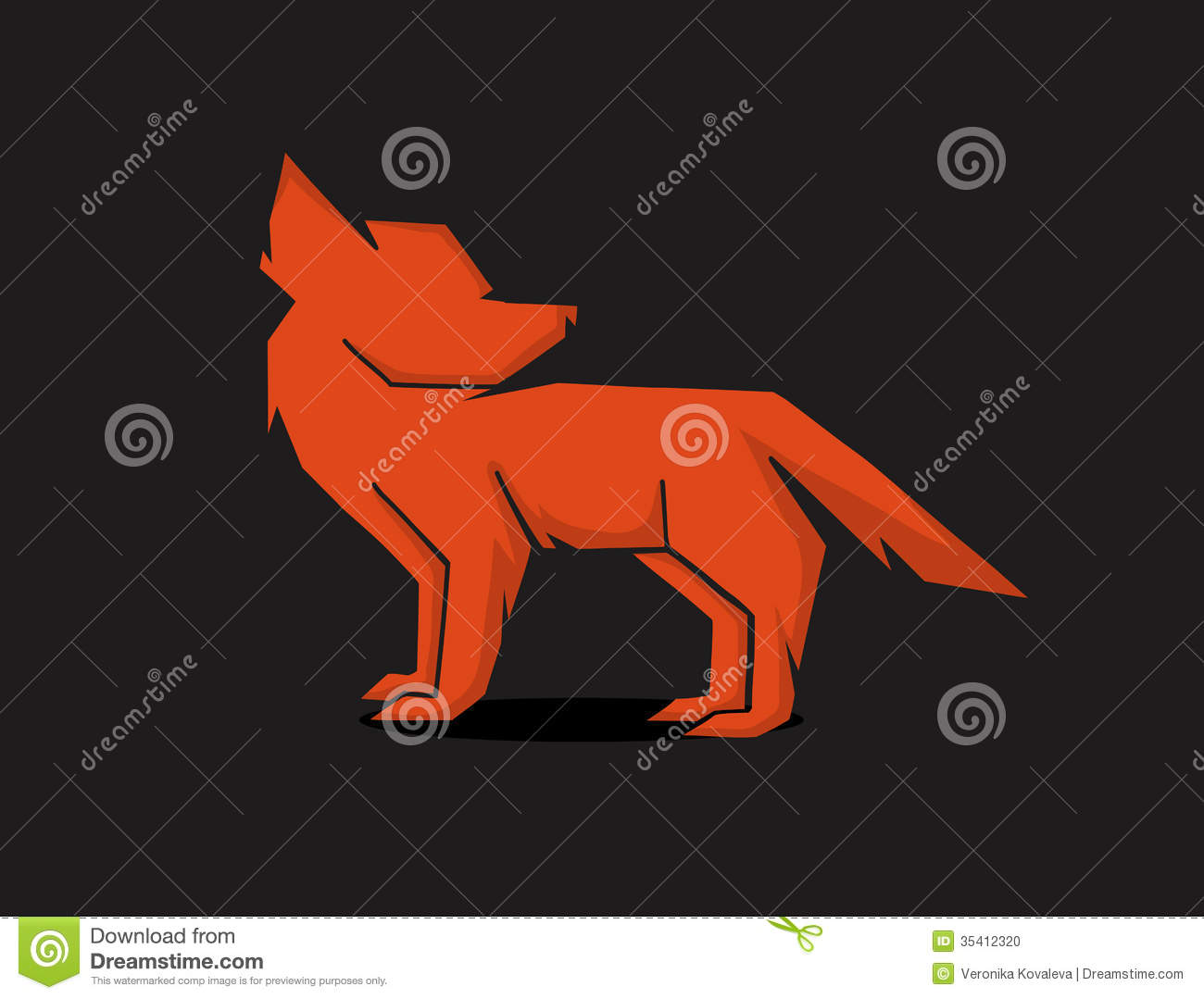 ninja silhouette red fox - photo #42