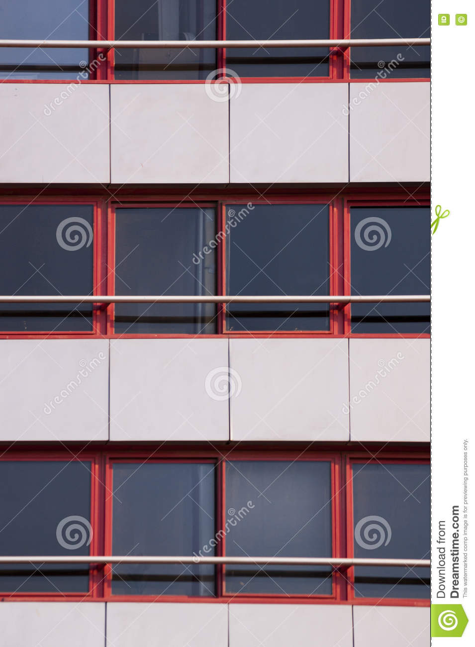 Red framed windows texture