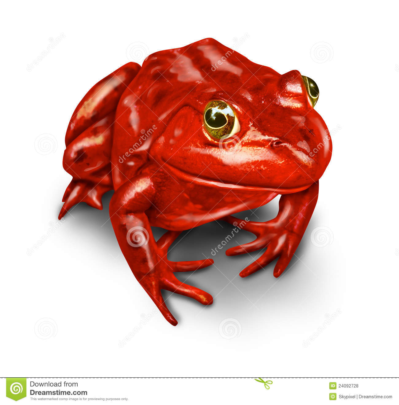 Red frog as a symbol of the environment and a rebel that protects ...