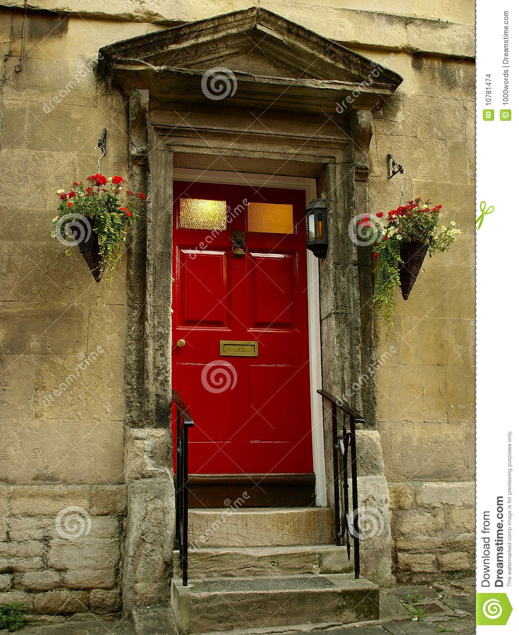Red front doors for homes - Door Front House London Red