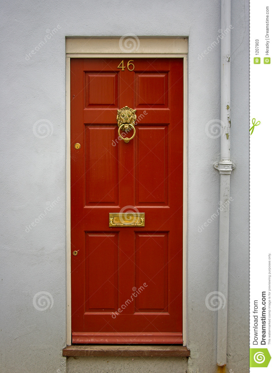 Front Door Clipart Red front door - the picture
