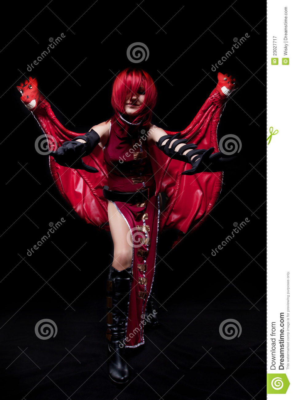 Red Fury Girl Cosplay Anime Character Stock Image Image Of