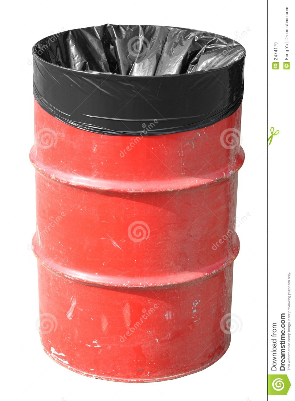 Red Garbage Can Royalty Free Stock Images Image 2474179