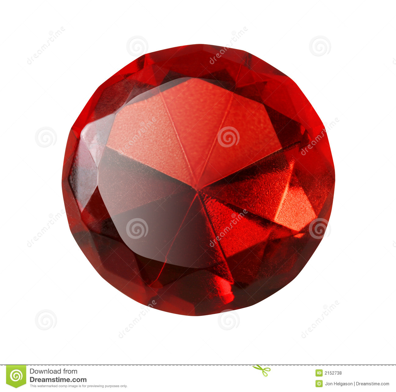 Red Gem Isolated Royalty Free Stock Photos - Image: 2152738